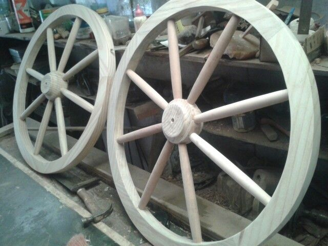 Ruedas de madera // Wood Wheels