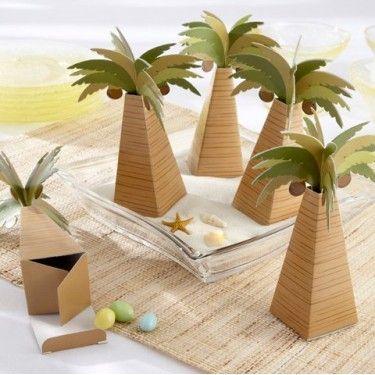 La boîte à dragées palmier des îles - Décorations de mariage