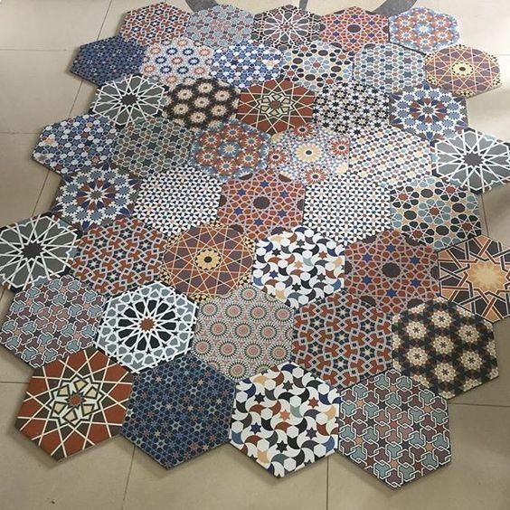 Details about Istanbal Hexagon Multi Colour Patchwork