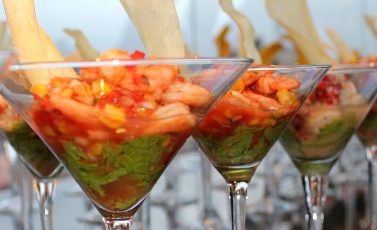Refrigerio - Ceviche con slice de yuca