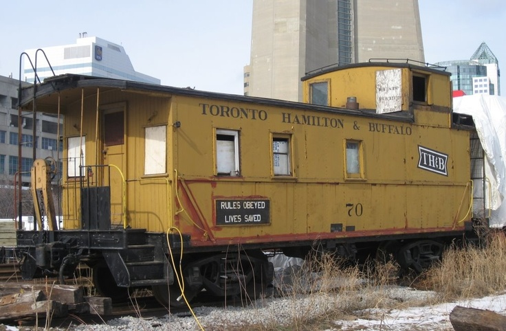 Toronto Railway Historical Association: Toronto, Hamilton & Buffalo caboose #70 built 1921 at TH & B Aberdeen (Hamilton) shops.