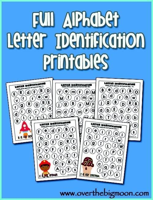 FREE ~ The entire alphabet letter ID printables!