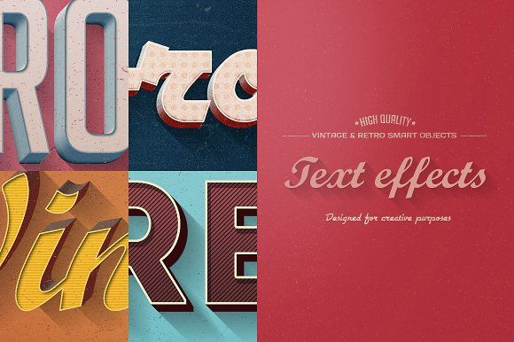 Retro Vintage Text Effects by 026design on @creativemarket