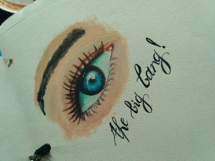 Eye oil painting on paper