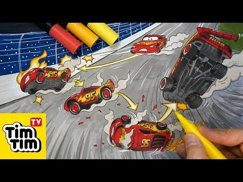 How To Draw Lightning Mcqueen Lost Control Before The Crash From