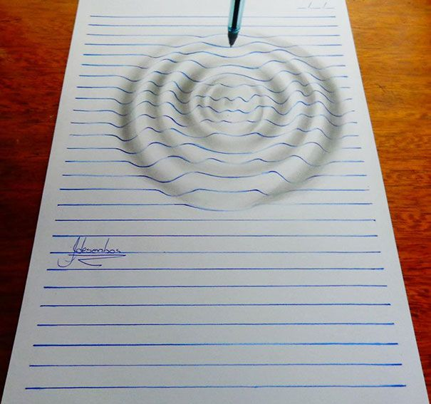 15-year-old artist João A. Carvalho creates wonderful drawings in which lined notebook paper appears to form three-dimensional characters and forms. Carvalho starts his drawings by penciling in the...