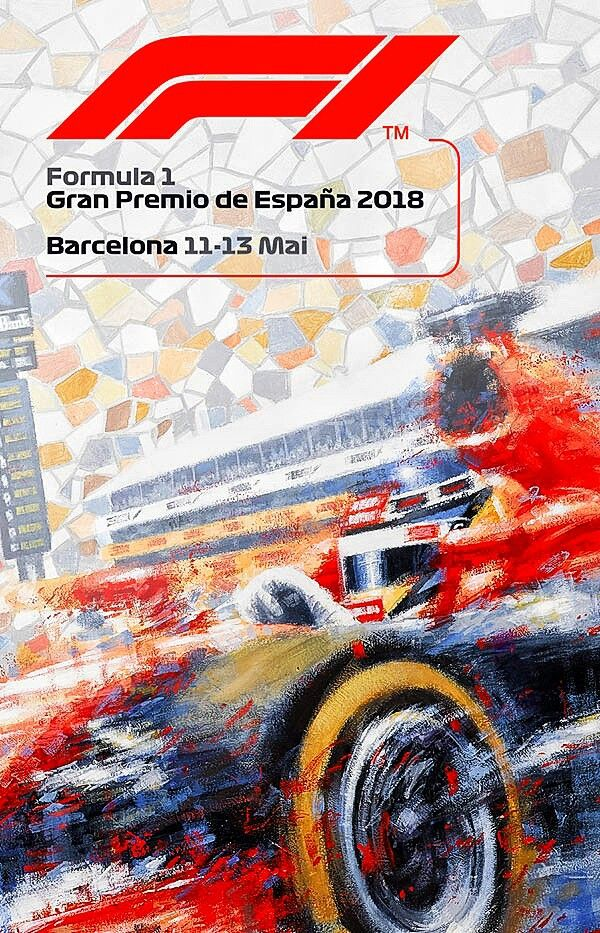 2018 Spanish Gp Poster And Cover Art Features An Abstract Theme And The New F1 Logo For The Twenty Eighth Running O Spanish Grand Prix Formula 1 Racing Posters