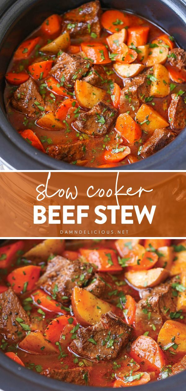 Slow Cooker Beef Stew In 2021 Crockpot Recipes Easy Crockpot Recipes Slow Cooker Avocado Recipes