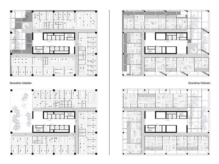 46 best architektur hochhaus grundrisse images on - Architektur plan ...