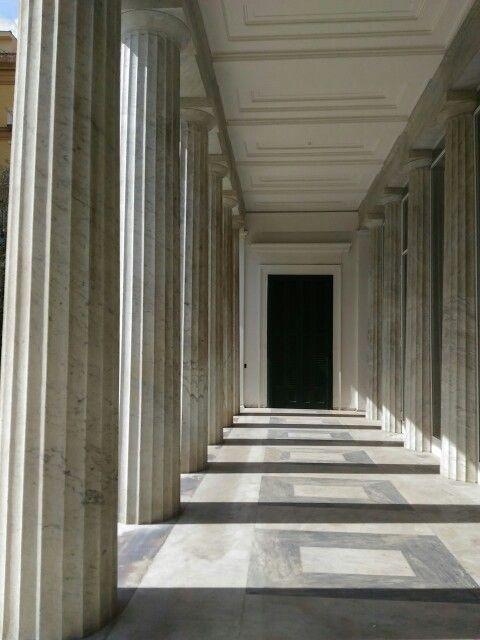 Ancient geometry in Villa Pignatelli