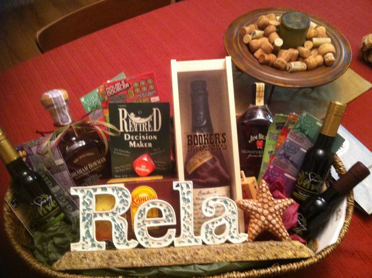 Retirement gift basket | gifts | Pinterest | Retirement Gifts ...