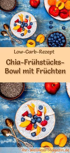 Low Carb Rezept für Chia Frühstücksschüssel mit Obst: Low Carb Fr …  – low carb recipes
