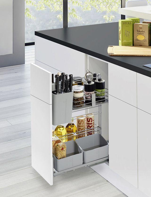 Aprovecha el espacio de la cocina con cajones en vertical.