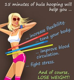 Health benefits of hula hooping- and don't forget sweating out all those toxins!!