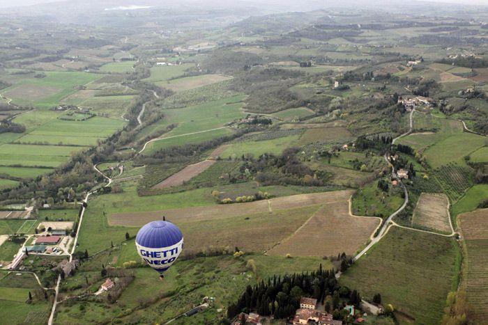 Passeio de balão pelo Val di Pesa