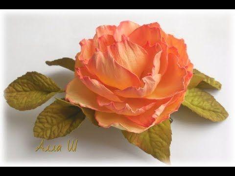 Цветы из фоамирана мастер класс. Брошь заколка с розой из фоамирана.