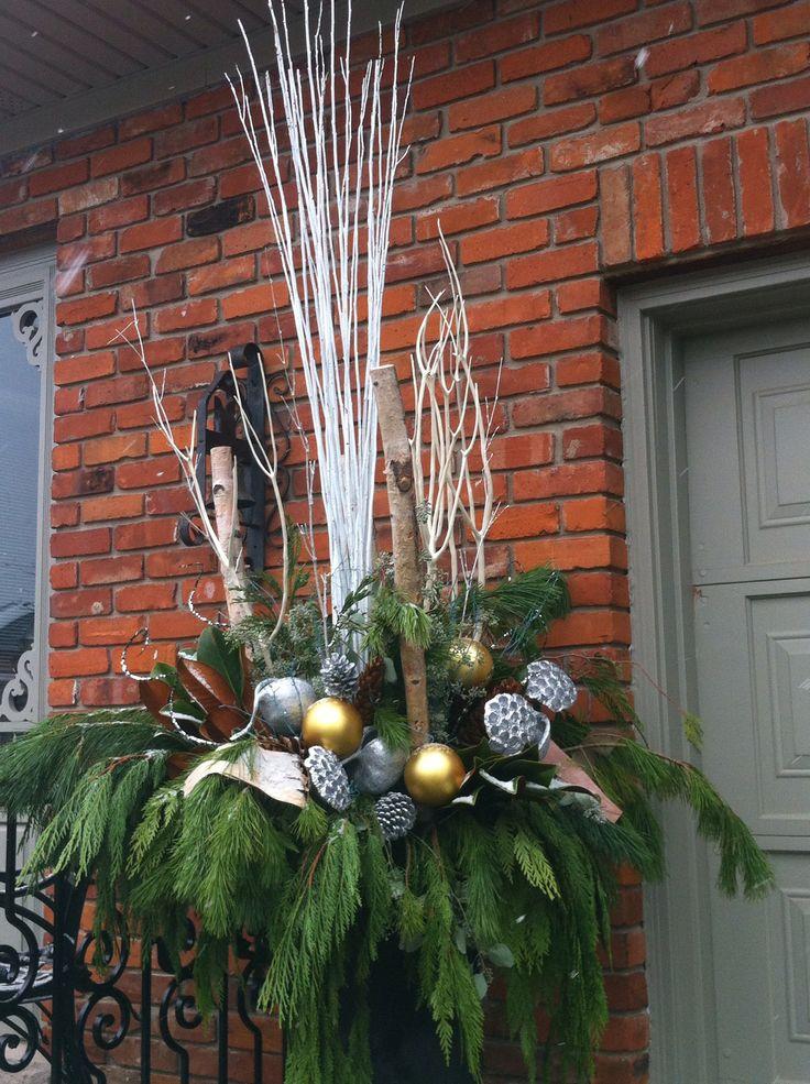 Christmas Urn Decor by FRANCESCA Designs