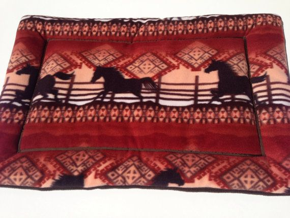 Southwestern Horses  Dog Beds  Large Crate Pads  by ComfyPetPads, $33.00