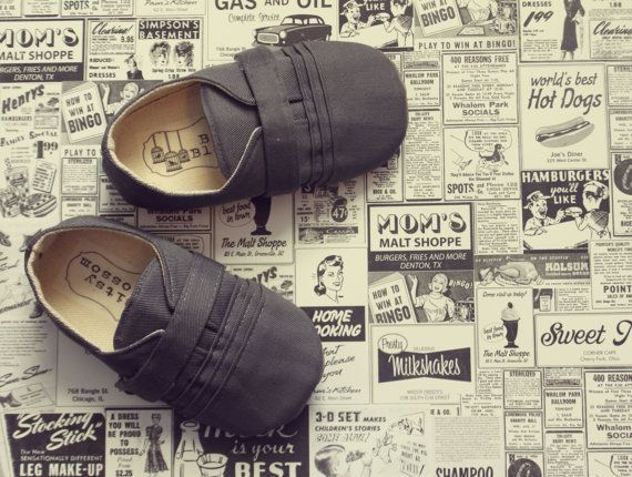 This shop has adorable baby shoes.   Baby Boy Shoes Soft Soled Shoes Toddler Boy Shoes by BitsyBlossom