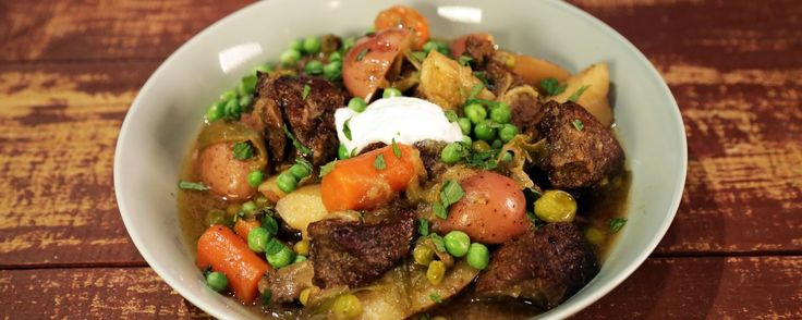 Braised Lamb with Spring Vegetables Recipe by Michael Symon   The Chew - ABC.com
