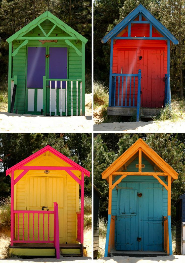 Beach huts in Wells-next-the-Sea, Norfolk, England