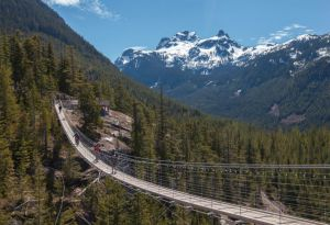 This suspension bridge in Squamish along the Sea to Sky highway, is definitely not for the faint of heart!
