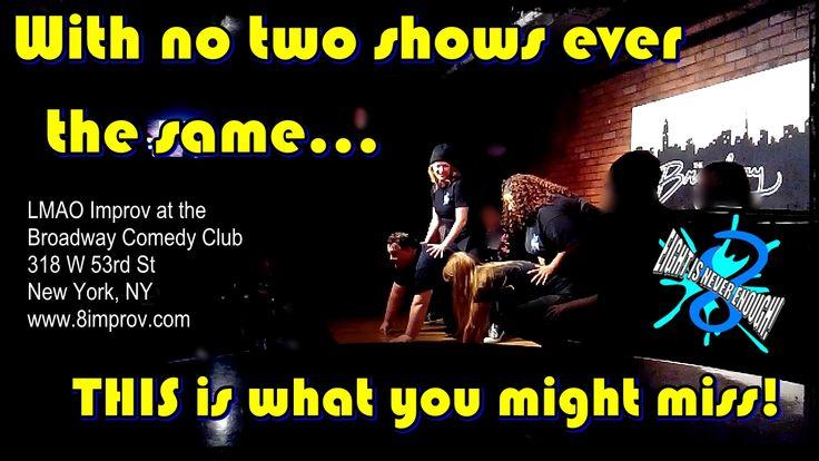 Saturdays 8pm LMAO #Improv at the #Broadway #Comedy #Club #NYC $5 tickets at https://web.ovationtix.com/trs/pr/948042/prm/nyit