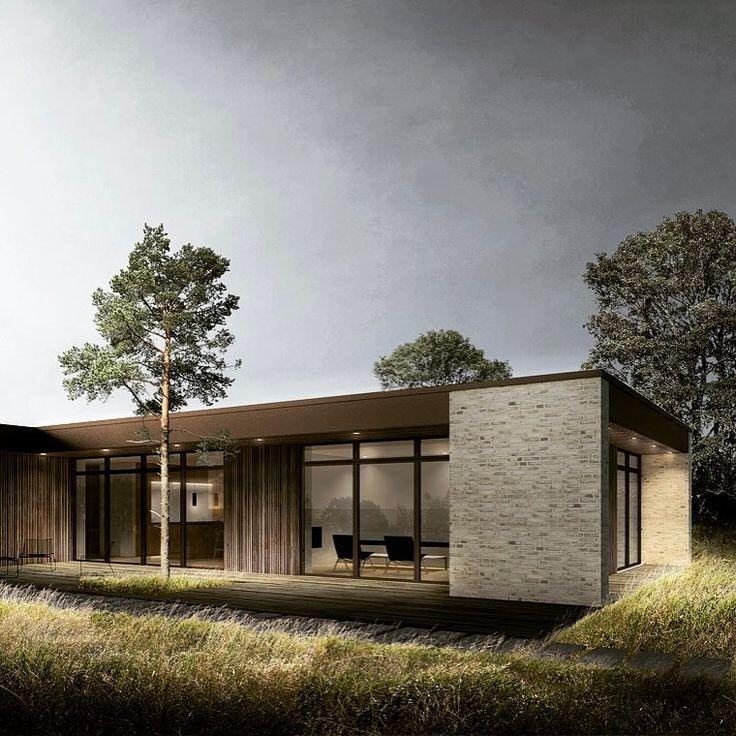 """158 Synes godt om, 4 kommentarer – BAKS ARKITEKTER (@baks_arkitekter) på Instagram: """"BAKS ARKITEKTER har tegnet en ny villa nord for København. Husets form domineres af den lange…"""""""