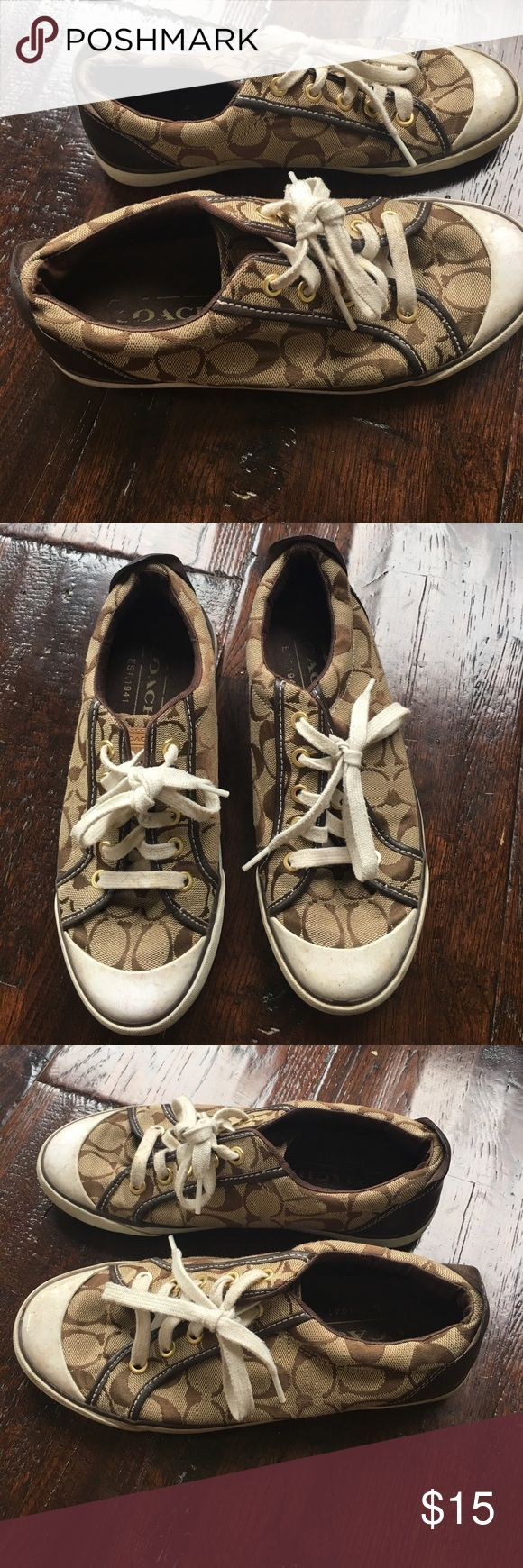 Coach Tennis Shoes Women's Coach Tennis Shoes. Good condition. Some marks on toe and sides. LOTS of wear left. Coach Shoes Sneakers