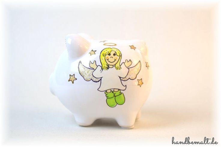 Mit viel Liebe zum Detail bemale ich tolle Sparschweine / Spardosen. Jedes ist ein Unikat und Einzelstück.  #Sparschwein #Spardose #personalisiert #Bank #Porzellan #handbemalt #geschenkidee #geburt #taufe #hochzeit