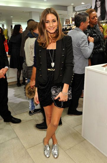 More Olivia Palermo, love the silver oxfords :)
