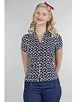 Same old favorite blouse, Blå/rød/hvit