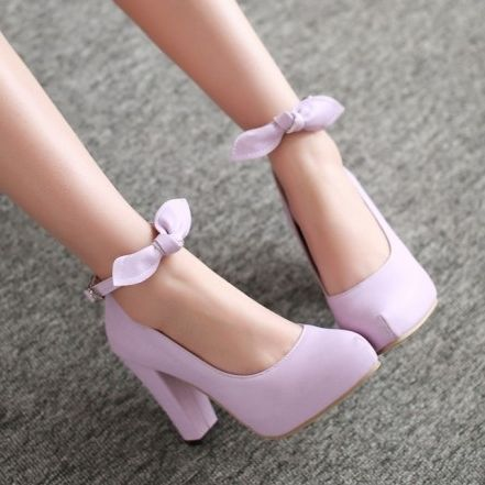 "Fashion sweet bowknot heels SE3064  ""Coupon code ""Fatma"" for 10% off"""