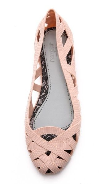fun textured pink ballet flats http://rstyle.me/n/w6hc5r9te