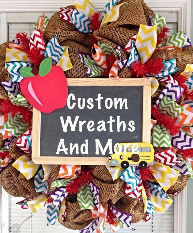 Teacher mesh wreath for classroom by custom wreaths and more