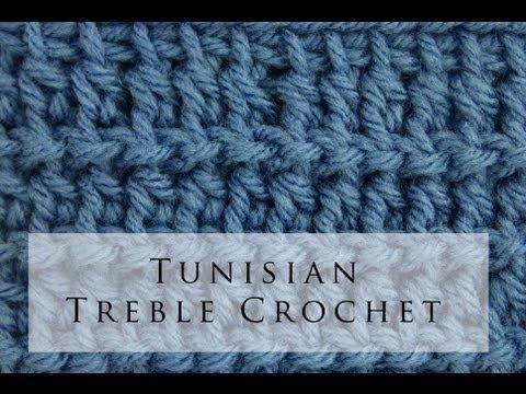 Tunisian Crochet Treble Stitch