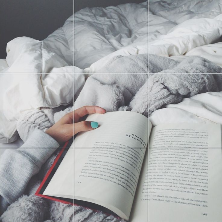 Nothing better than being cozy in bed with a book.