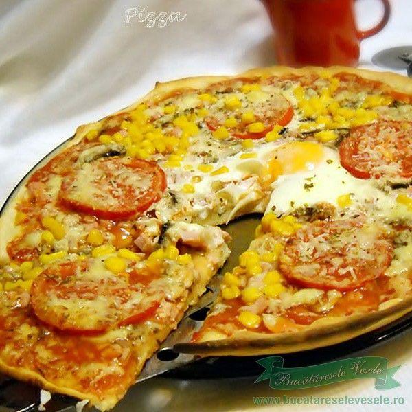 O pizza cu blatul ca cea de la pizzerie