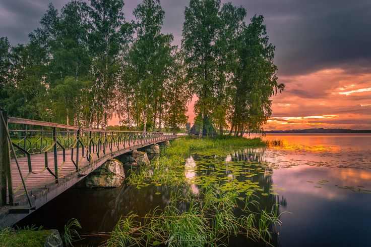 """Sunset Island - Image was taken at Aulanko, Hämeenlinna, Finland  <p><a href=""""www.facebook.com/laurilohiphoto"""">Follow me on Facebook</a></p>"""
