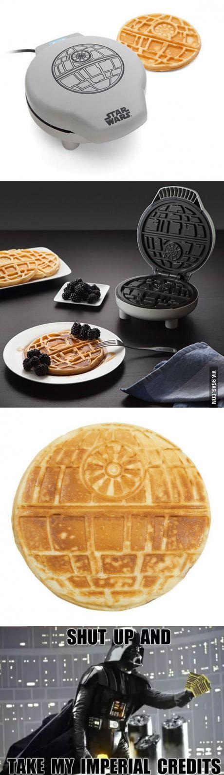Star Wars Waffle Maker That Bakes Death Stars For Breakfast