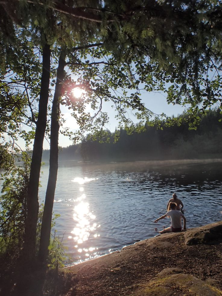 #Canoeing #adventure in #Nuuksio National Park, #Espoo, #Finland - #coffee and swimming break