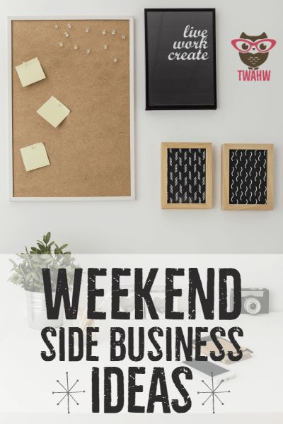 Great list of side business ideas you can work part-time or on the weekends