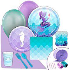Mermaid Party Supplies #mermaidparty #mermaids #littlemermaid #mermaidtails #mermaidgift #enchantails