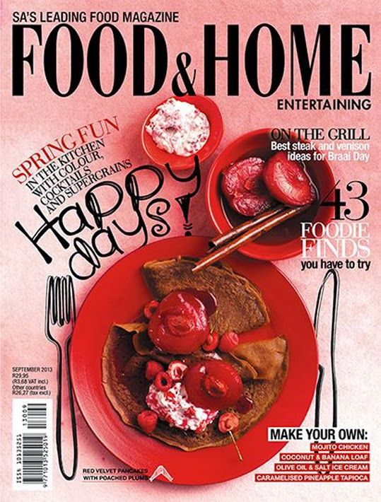 Food & Home Entertaining magazine cover page. Introduction to magazine cover pages. http://www.magazinedesigning.com/introduction-to-magazine-cover-pages/