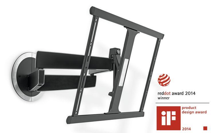"""355e cdiscount, Support mural orientable pour écran plat - DesignMount (NEXT 7345) -  Pivote jusqu'à 120° - S'incline jusqu'à 20° - Adaptable écran 40"""" à 65"""" (102 -165 cm) et pesant jusqu'à 30 kg..."""