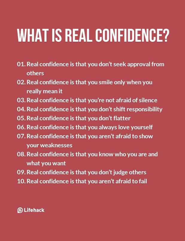 how to start being confident