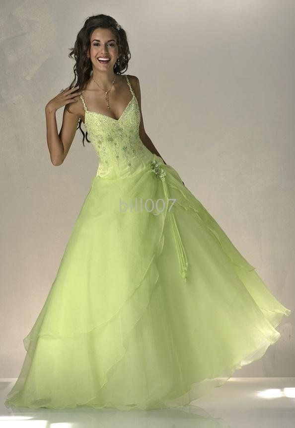 Lovely! potential for a green wedding dress