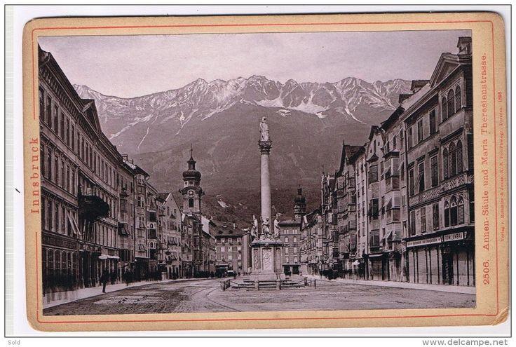 Innsbruck - Annen-Saule und Maria Theresienstrasse - Verlag v. Rommler & Jonas K.S. Hof-Photogr - Dresden 1893 - Delcampe.net
