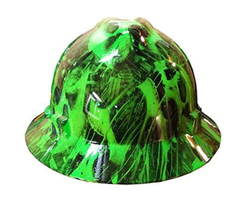 Our state of the art hydro graphic dipping process is what sets these hard hats apart from all the others. We start with MSA hard hats, the most trusted and accepted brand in all industrial fields. Each hard hat is flame treated and prepped for paint. A flexible adhesion promoter is sprayed on....
