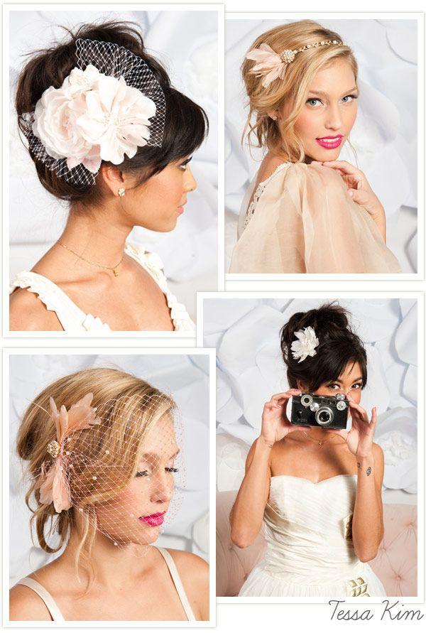 Tessa Kim hair accessories #bridal #wedding